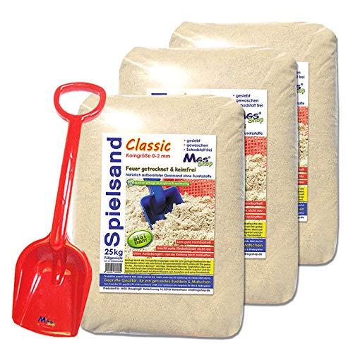 75kg Spielsand Quarzsand TÜV geprüft (mit Schaufel)