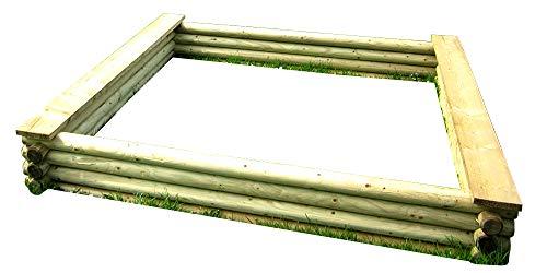 Eckiger Sandkasten aus Rundholz von Gartenpirat®