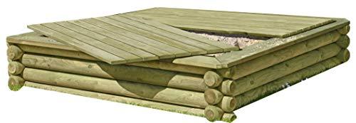 Sandkasten aus Rundholz von Gartenpirat®