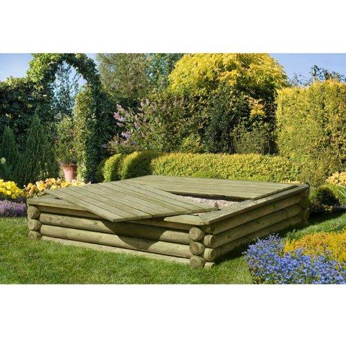 Sandkasten aus Rundholz von Gartenpirat® - 2