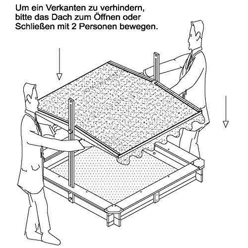 Sandkasten mit Dach von Habau 3024 - 5