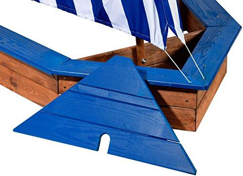 Sandkasten Schiff aus Holz von Dobar 94600FSC - 3