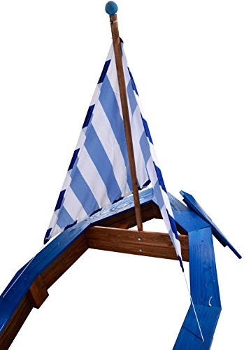 Sandkasten Schiff aus Holz von Dobar 94600FSC - 4