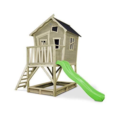 Sandkasten Spielhaus Crooky 500 Grau mit Rutsche von Exit