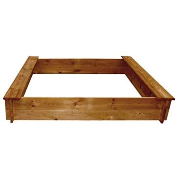 sandkasten quadratisch von vidaxl. Black Bedroom Furniture Sets. Home Design Ideas